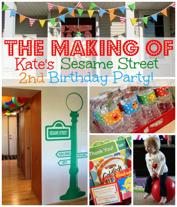 Kate's Sesame Street Birthday Party - Sesame Street & Elmo birthday party ideas, party decorations, food and printables. | www.allthingsgd.com