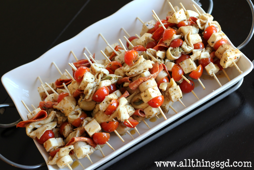 Mediterranean Antipasto Skewers - All Things G&D