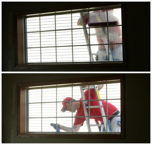 Josh, scrubbing