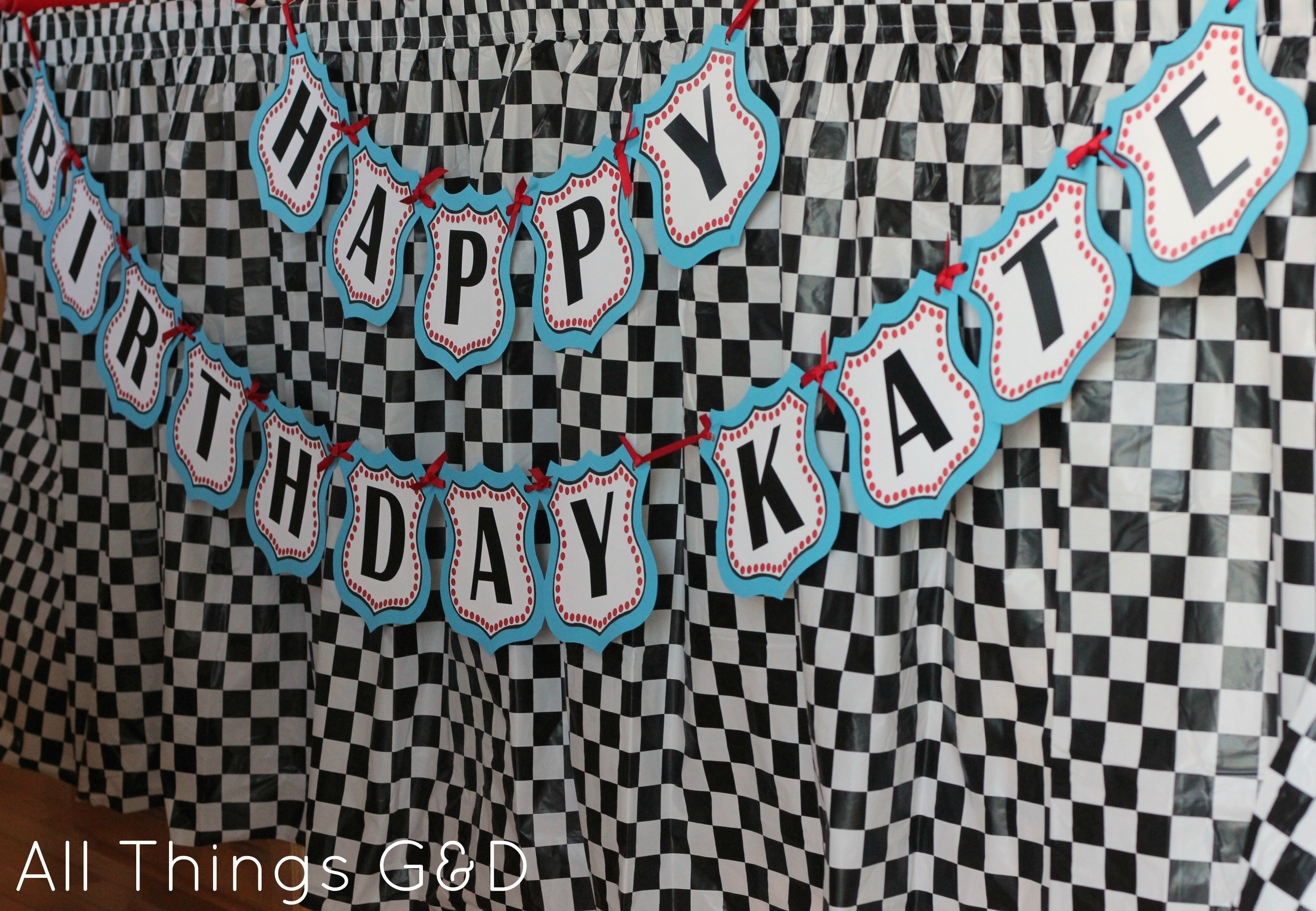The Making of Kates Cars Birthday Party All Things GD