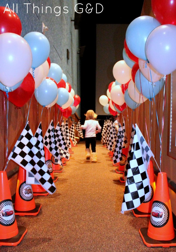 Cars Movie Theater Birthday Party