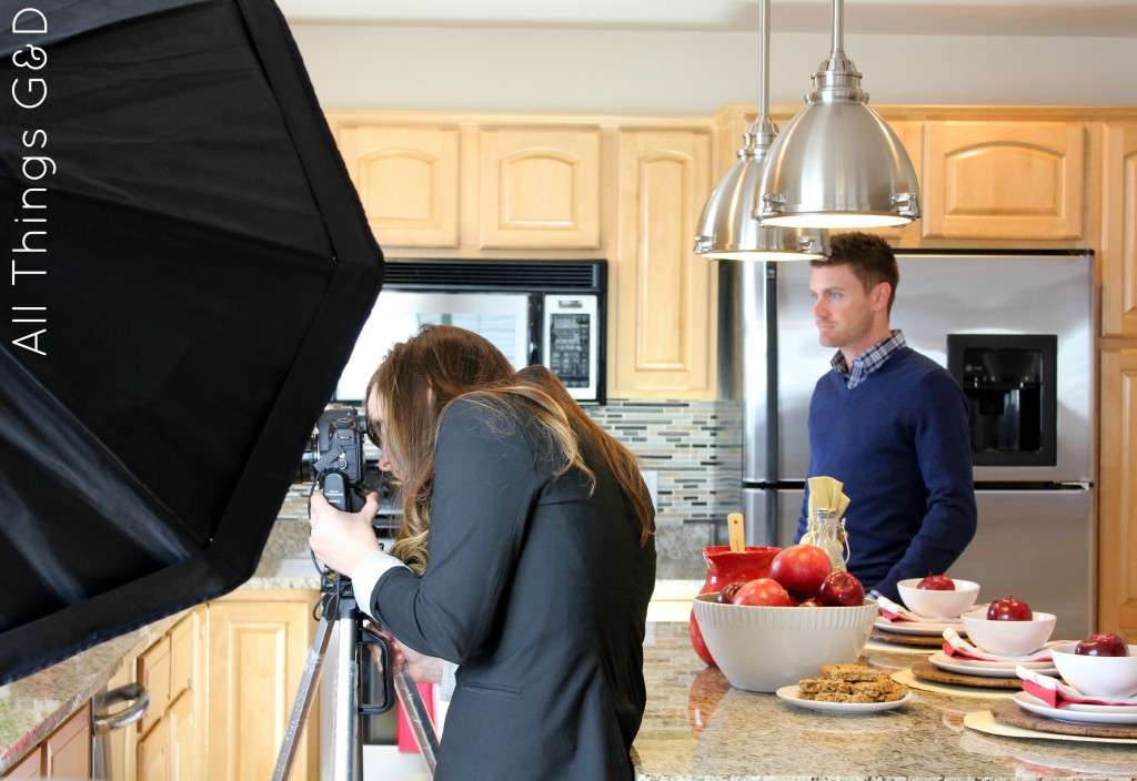 My kitchen's first photo shoot, compliments of The Tile Shop!