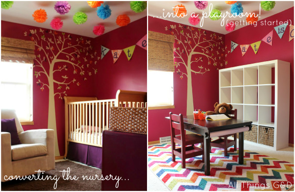 Converting the Nursery into a Playroom - Getting Started