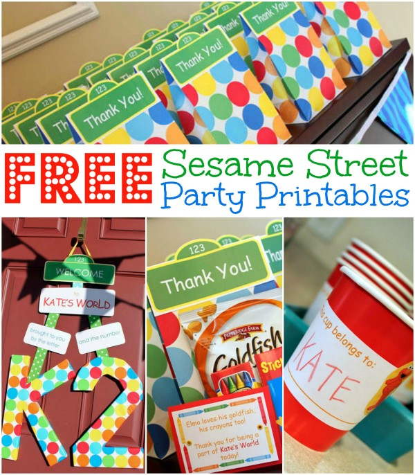 Free Sesame Street Birthday Party Printables, Free Elmo Birthday Party Printables