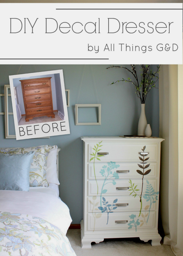 Diy Decal Dresser All Things G Amp D
