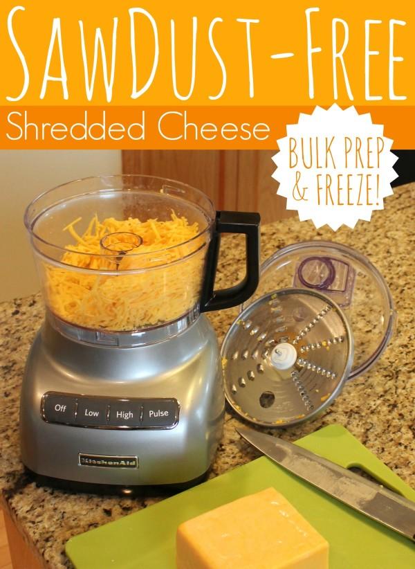Sawdust-Free Shredded Cheese | www.allthingsgd.com