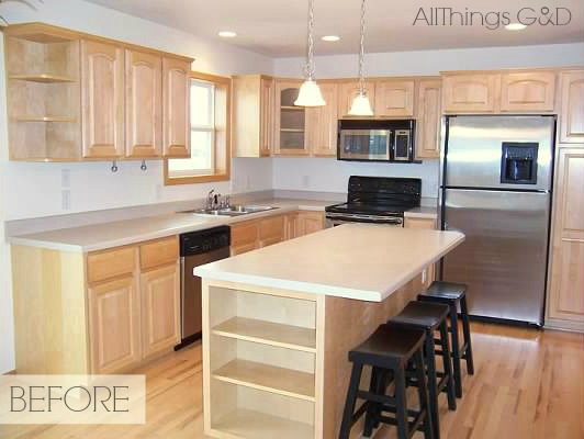 light maple kitchen cabinets. Gray Kitchen, Sherwin Williams Anonymous Paint Color, DIY Tile Backsplash, Maple Kitchen Cabinets Light