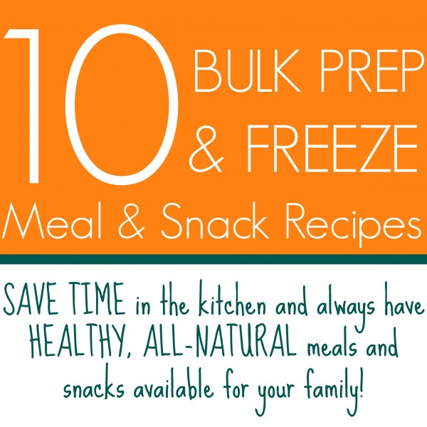 10 Bulk Prep & Freeze Meal and Snack Recipes | www.allthingsgd.com