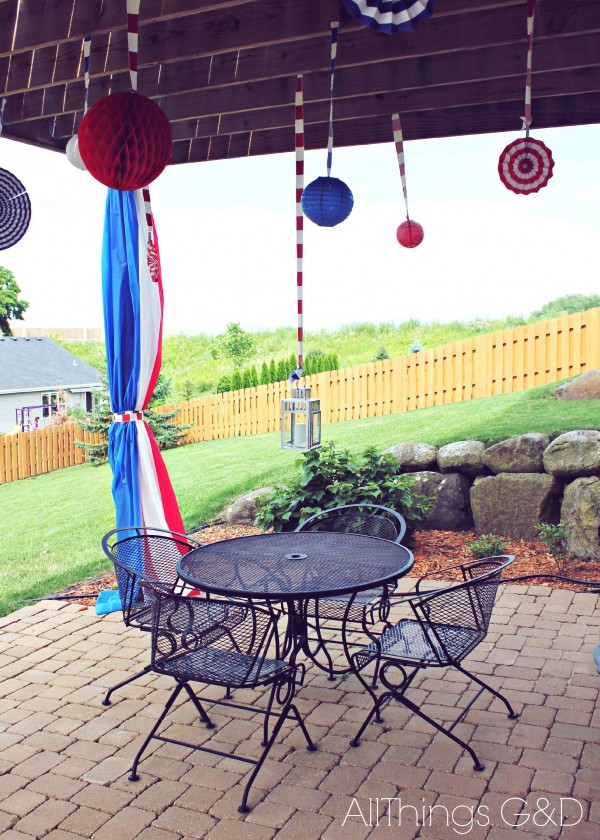 Patriotic Backyard Fourth of July Party | www.allthingsgd.com