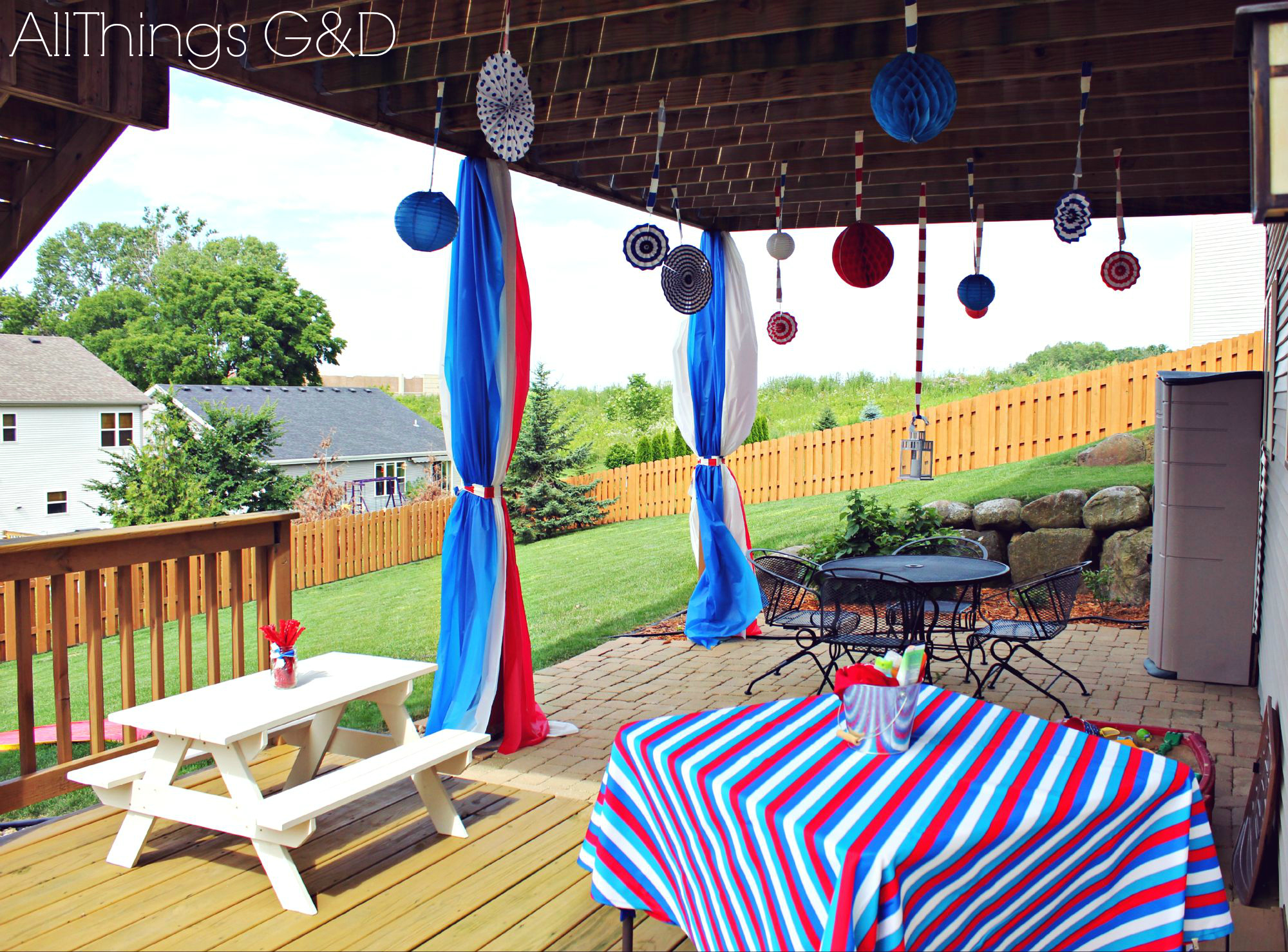 Patriotic Backyard Fourth Of July Party