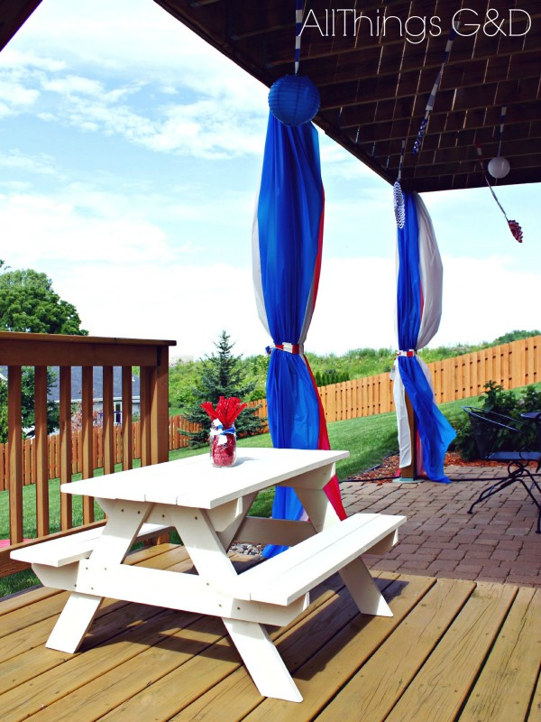 Patriotic Backyard Fourth of July Party | www.allthingsgd.com