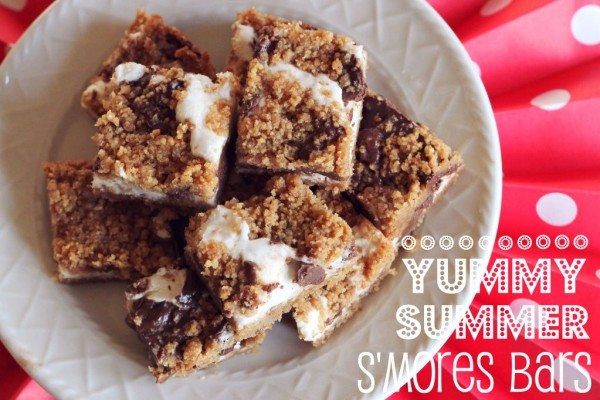 Yummy Summer S'Mores Bars - perfect for your 4th of July party! | www.allthingsgd.com