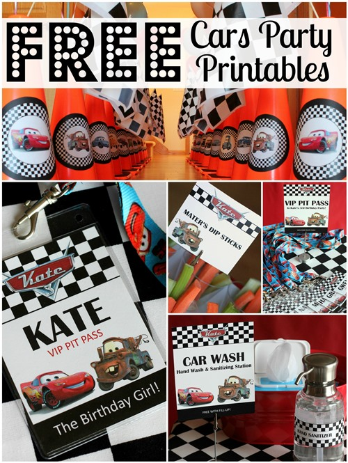 Free Cars party printables