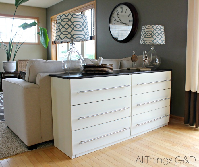 IKEA Tarva dresser transformed into a kitchen sideboard. | www.allthingsgd.com