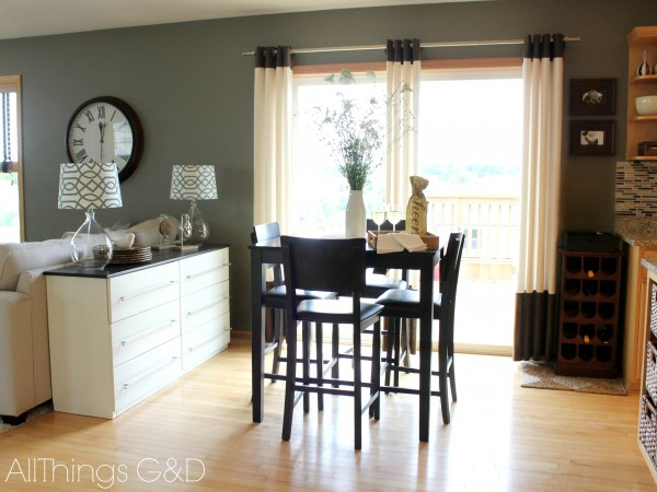 Need more kitchen storage?  Transform an IKEA TARVA bedroom dresser into a kitchen sideboard! | www.allthingsgd.com