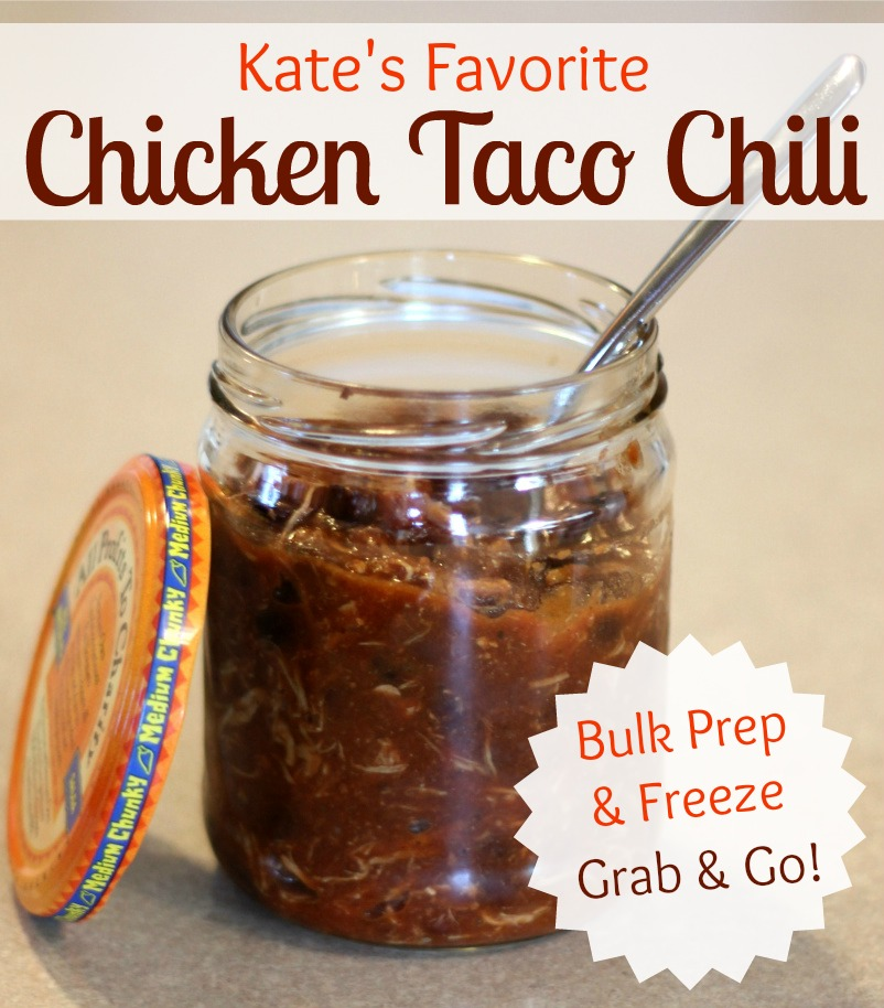 This 4 ingredient chicken taco chili is my daughter's favorite! It's ...