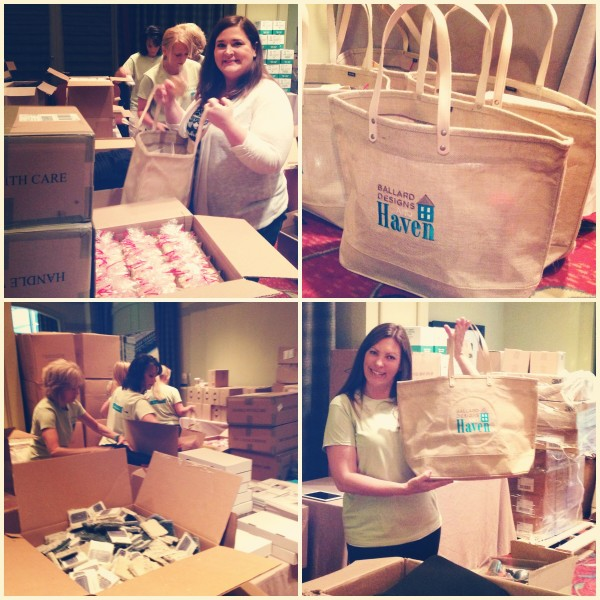 2013 Haven Conference swag bag assembly.