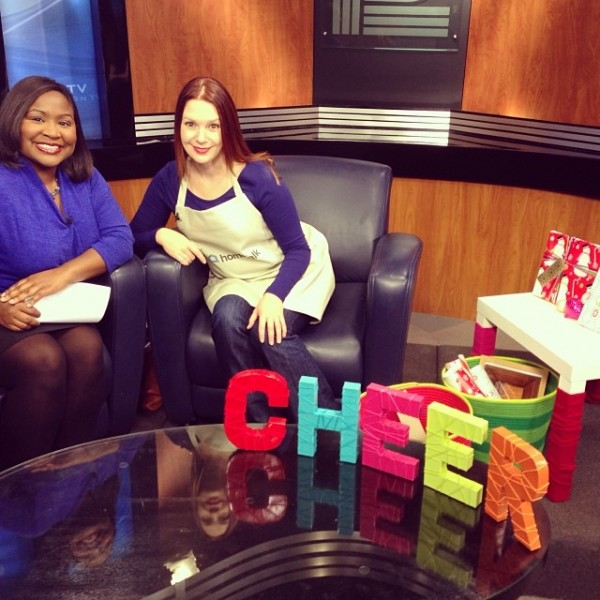 "Me and Thema Ponton from WISN Channel 12, right before my ""Hometalk for the Holidays"" segment."