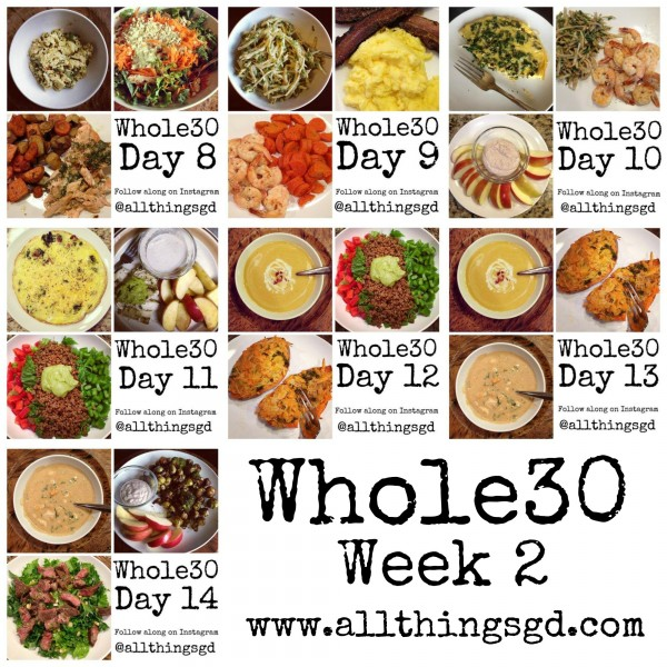 Whole30, Week 2 meals and recipes | www.allthingsgd.com