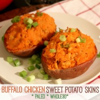 Buffalo Chicken Sweet Potato Skins (Paleo & Whole30-compliant!) | www.allthingsgd.com