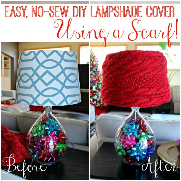 Easy no sew diy lampshade cover using a scarf all things gd an easy no sew diy lampshade cover made using a scarf no aloadofball