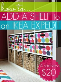 How to add a shelf to an IKEA Expedit | www.allthingsgd.com