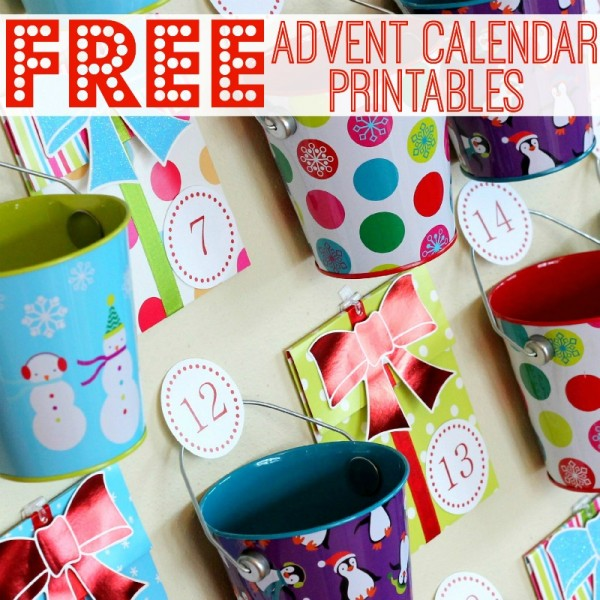 Free Advent Calendar Printables - pin now, print next year! | www.allthingsgd.com