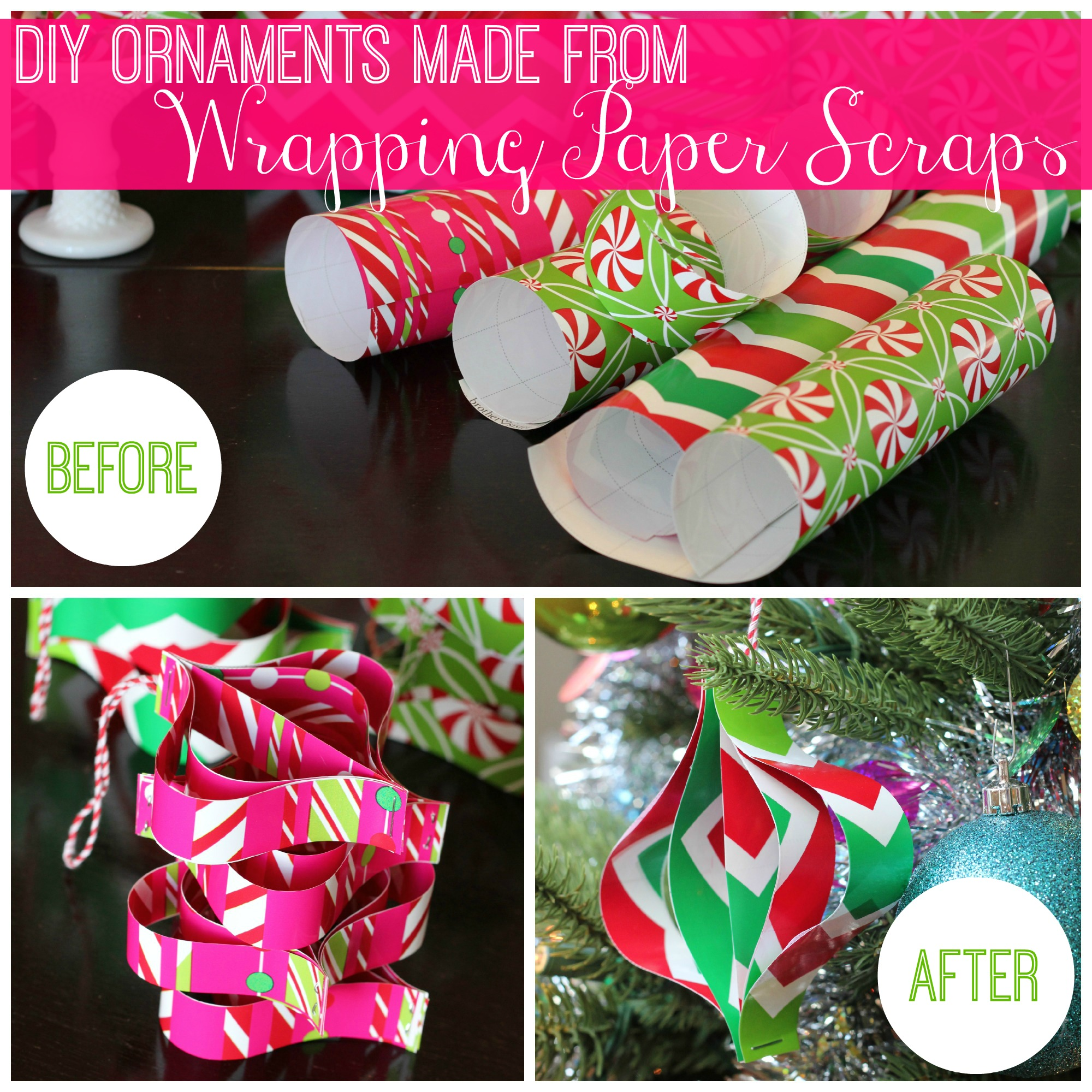 Diy Ornaments Made From Wrapping Paper Scraps All Things G D