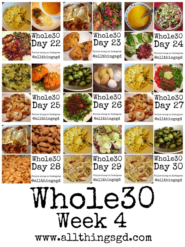 Whole30, Week 4 meals and recipes | www.allthingsgd.com