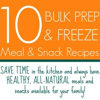 10 Bulk Prep & Freeze Meal & Snack Ideas | www.allthingsgd.com