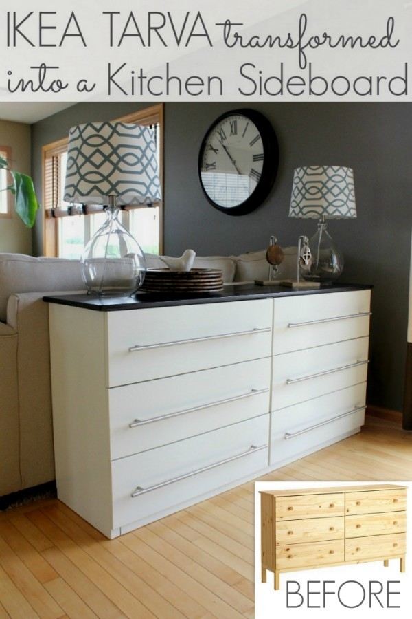 Ikea Tarva Transformed Into A Kitchen Sideboard All
