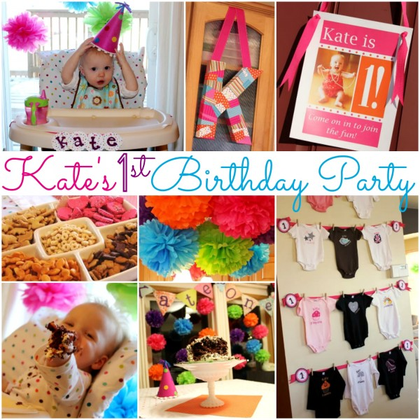 Kate's Colorful 1st Birthday Party! | www.allthingsgd.com