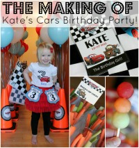 The making of Kate's Cars-Themed 3rd Birthday party! | www.allthingsgd.com