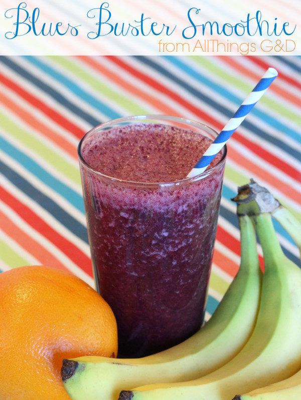 "Ward off the winter blues with this ""Blues Buster"" Smoothie! 