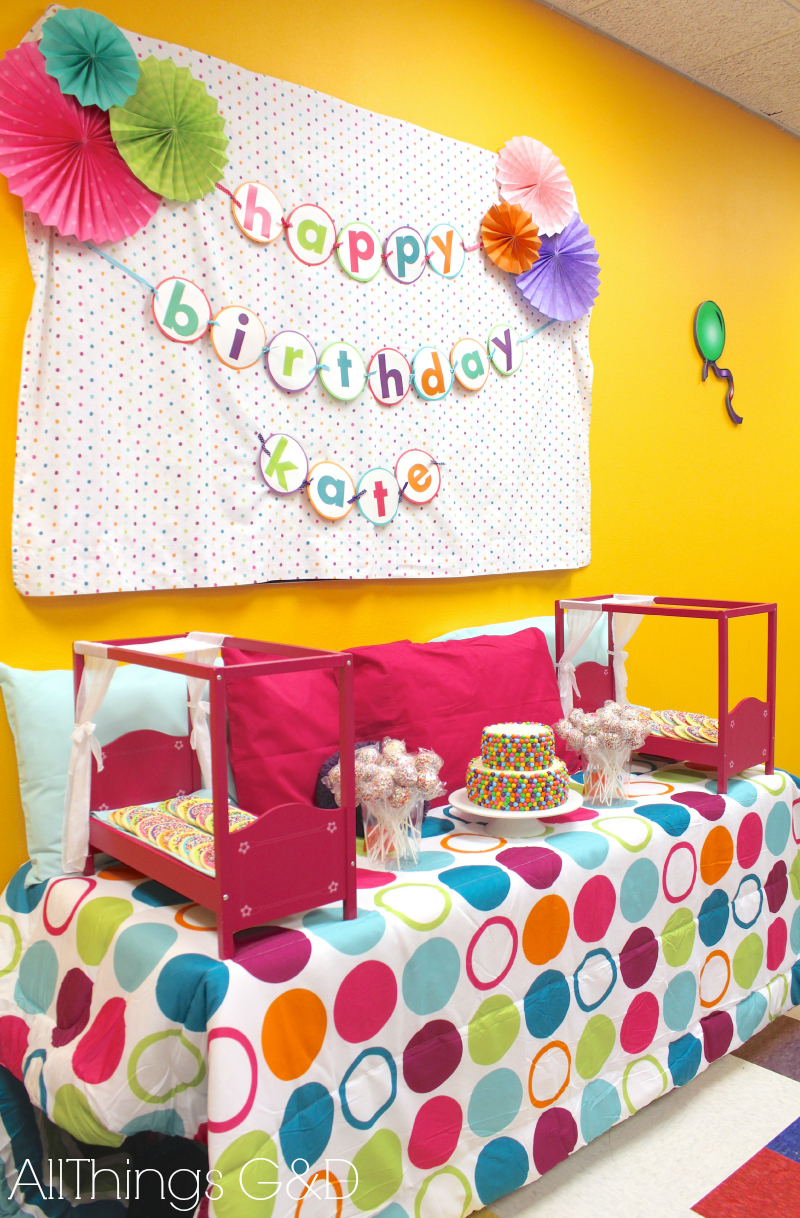 Kate S Polka Dot Pajama Birthday Party All Things G Amp D