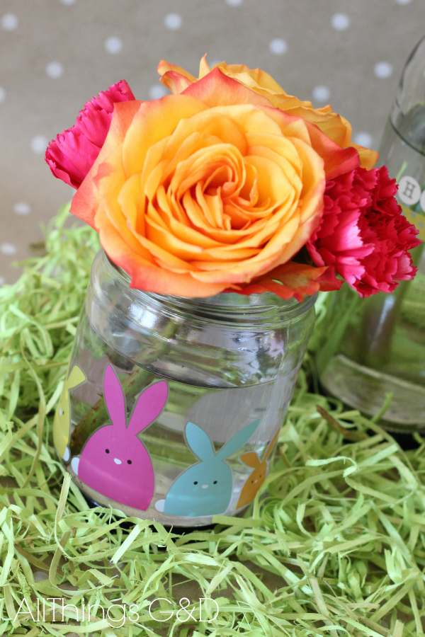 Repurposing glass food jars as decorative vases. | www.allthingsgd.com