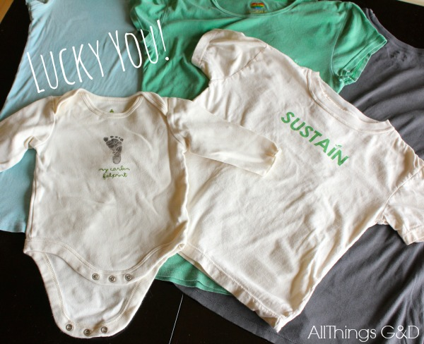 Reusable produce grocery bags made from t-shirts and baby onesies. | www.allthingsgd.com #repurpose #upcycle #green #earthday