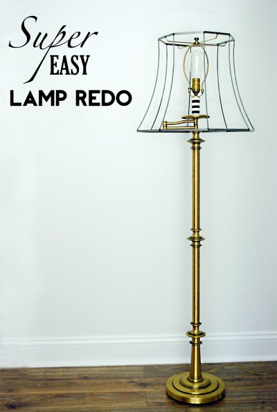 Super Easy Lamp Redo by Holly from Life as a Thrifter