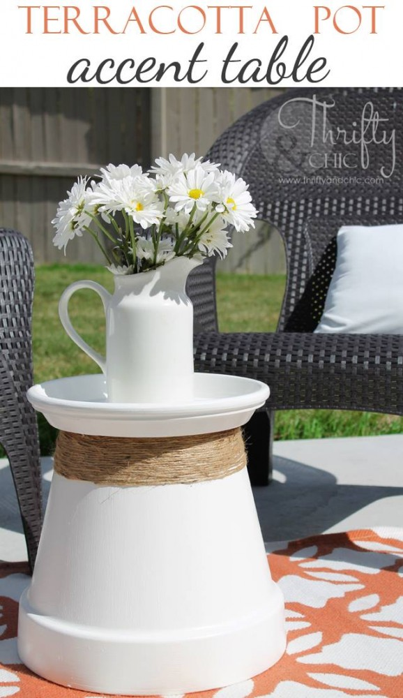 Terracotta Pot Accent Table by