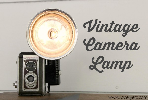 Vintage Camera Lamp by Carrie from Lovely, Etc.