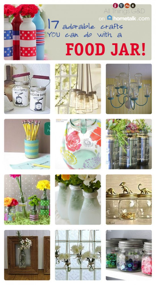 17 Kitchen Jar Crafts | www.allthingsgd.com