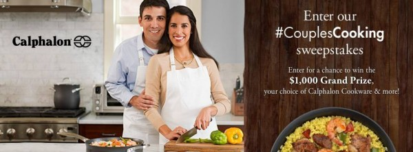Enter Calphalon's #CouplesCooking sweepstakes for your chance to win $1,000 in Calphalon cookware!