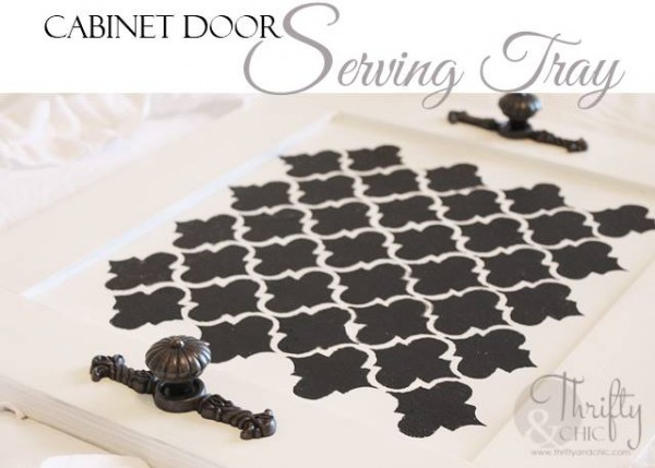 Cabinet Door Serving Tray from Thrifty & Chic
