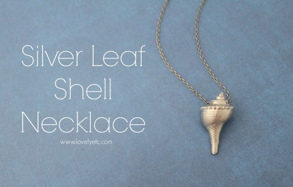 Silver Leaf Shell Necklace from Lovely, Etc.