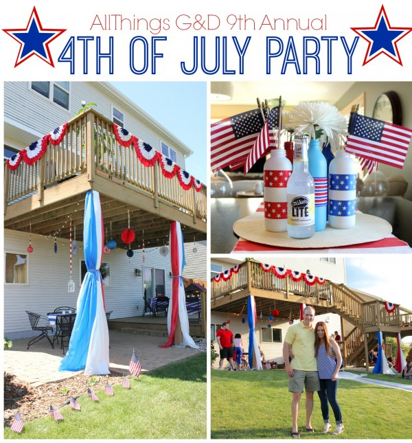 All Things G&D 9th Annual 4th of July Party - lots of decorations, food, and DIY party ideas! | www.allthingsgd.com
