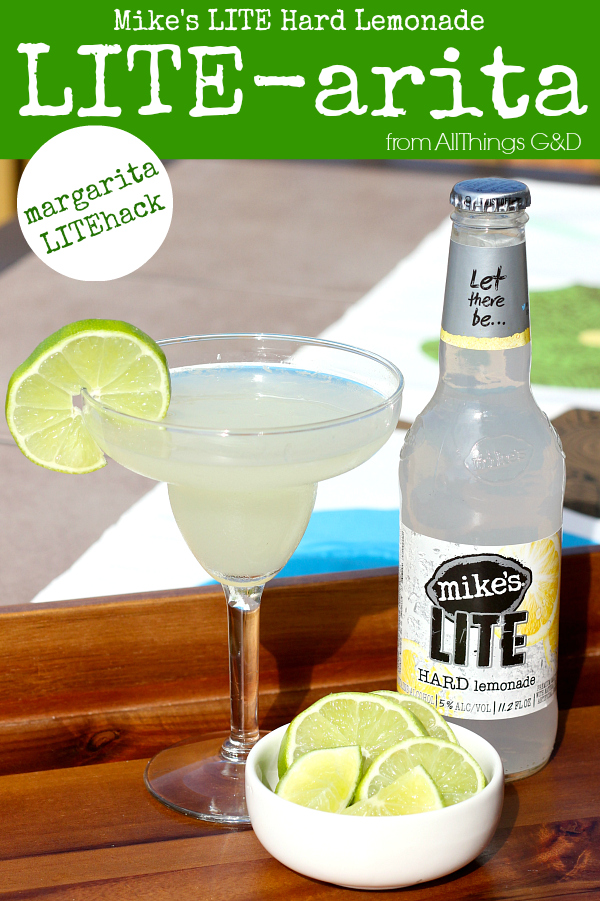 A low-cal #LITEhack margarita made with Mike's LITE Hard Lemonade and only 2 other ingredients! | www.allthingsgd.com