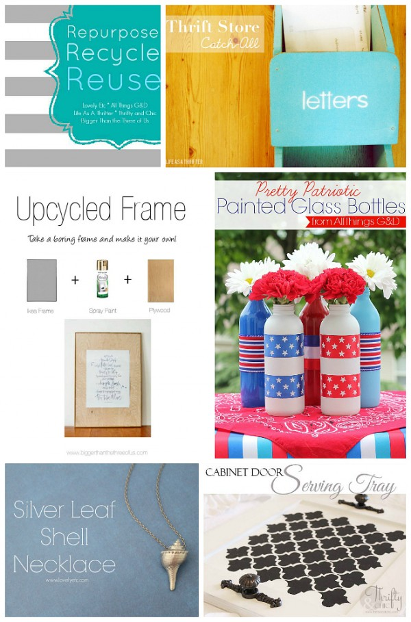 Repurpse, Recycle, Reuse - a collection of reimagined blogger crafts (July 2014 edition) | www.allthingsgd.com