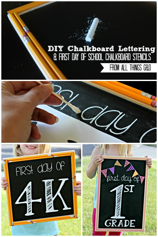 easy chalkboard lettering tutorial. Black Bedroom Furniture Sets. Home Design Ideas