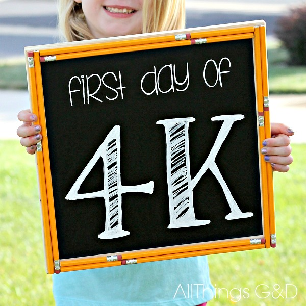 DIY pencil-trimmed decorative chalkboard. | www.allthingsgd.com
