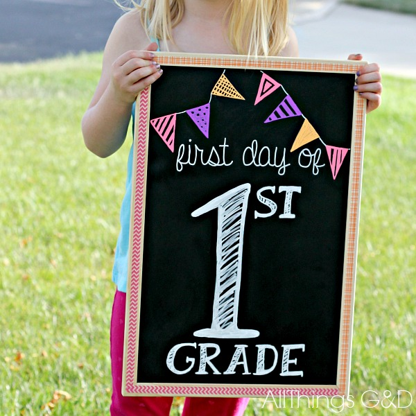 DIY washi tape decorative chalkboard. | www.allthingsgd.com